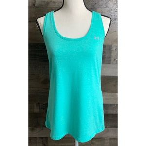 UNDER ARMOUR Microthread Neo Turquoise Tank Top L